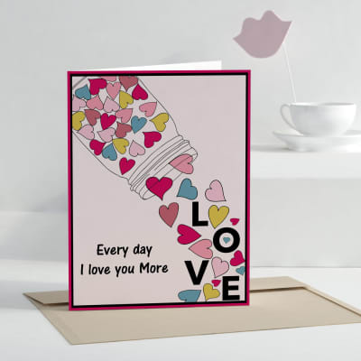 Incredible Love You More Personalized Greeting Card Gift Send Greeting Cards Personalised Birthday Cards Paralily Jamesorg