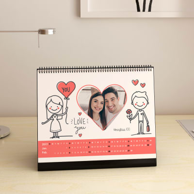 Love You Personalized Desk Calendar