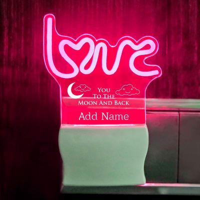 Love You Romantic Personalized LED Lamp