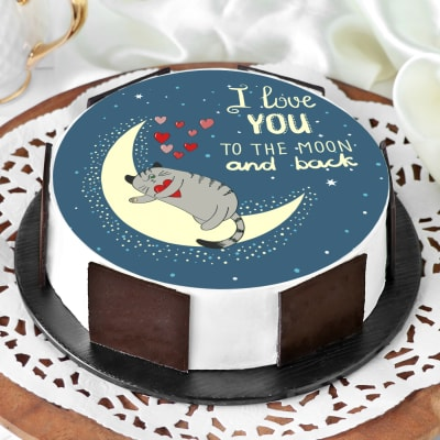 Swell Order Love You To The Moon Cake Half Kg Online At Best Price Free Personalised Birthday Cards Cominlily Jamesorg