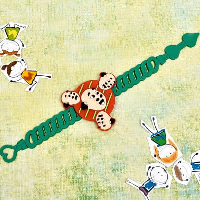 Lovely Cartoon Dial Rakhi for Kids