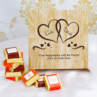 Lovely Couple Personalized Box of Homemade Chocolates
