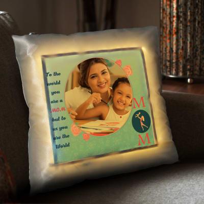 Loving Mom Personalized Satin Cushion
