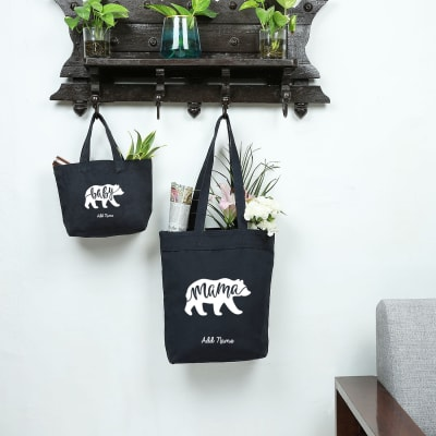 Mama Bear Baby Bear Blue Shopping Bag Combo