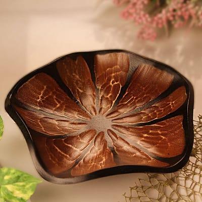 Mango Wood Handmade Leaf Design Platter