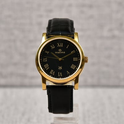 Maxima Black Dial Watch for Men