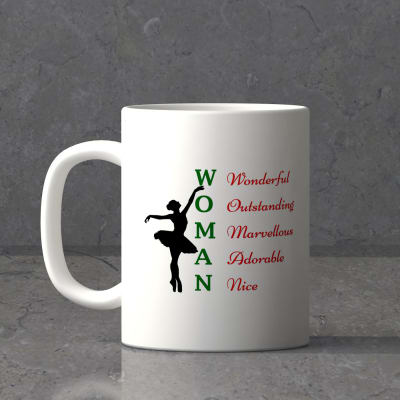 Meaning of Woman Personalized Mug