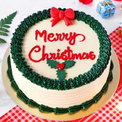 Merry Christmas Butterscotch Cake (Half Kg)