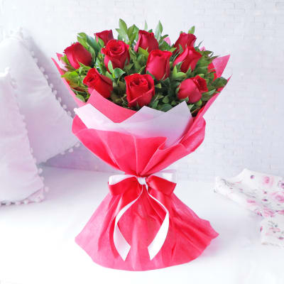 Mesmerising Red Roses Bouquet