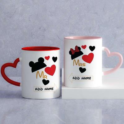 4fb5a7aae0599 Mickey & Minnie Personalized Mugs