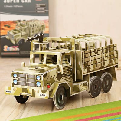 Military Truck Toy to Assemble-62 Pieces