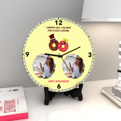 Mine for a whole Lifetime Personalized Anniversary Clock