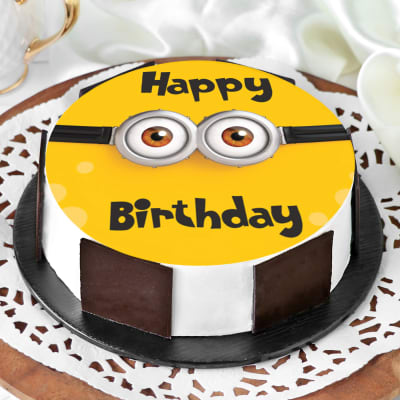 Minion Birthday Cake (Eggless) (Half Kg)