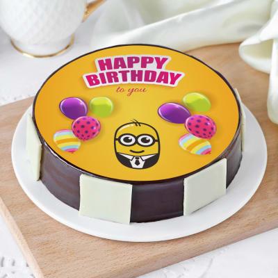 Peachy Minion Cakes Minion Birthday Cake Ideas Minion Theme Cakes Funny Birthday Cards Online Elaedamsfinfo