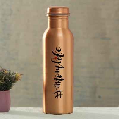 Mom Life Copper Water Bottle