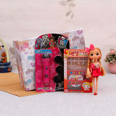 Monster High Projector Torch With Nail Art Kit Doll Keychain Gift