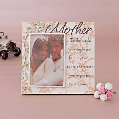 Mother Theme Ceramic Photo Frame: Gift/Send Home and Living Gifts ...