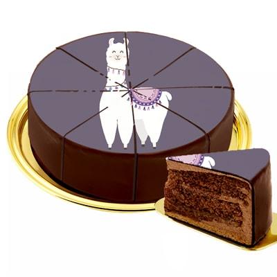 Motif Cake Lama