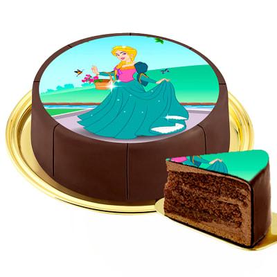 Motif Cake Princess