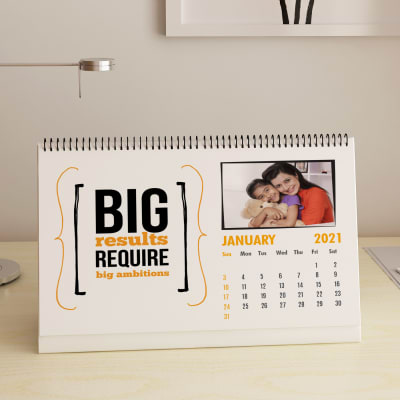 Motivational Quotes Personalized Desk Calendar (A4)