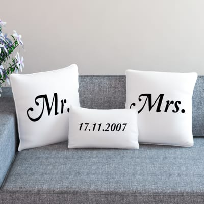 Wedding gifts for friend marriage gifts for best friends igp mr and mrs personalized anniversary cushion set junglespirit Gallery
