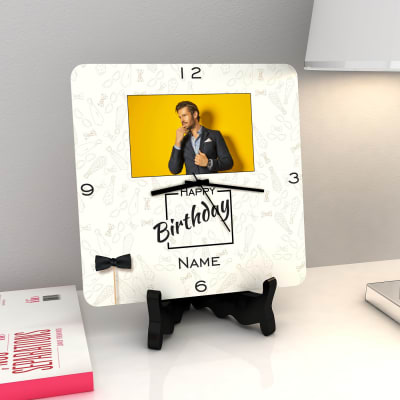 Mr Bows And Ties Personalized Birthday Clock