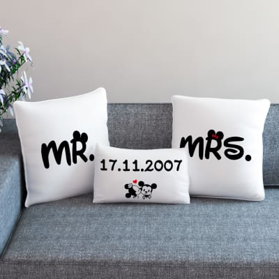 Anniversary gifts for sister online anniversary gift for sis mr mrs personalized anniversary cushion set negle Gallery