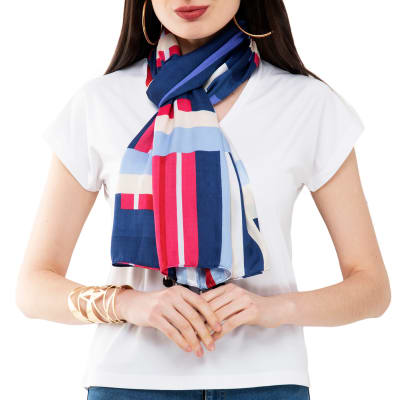 Multi-coloured Striped Stole