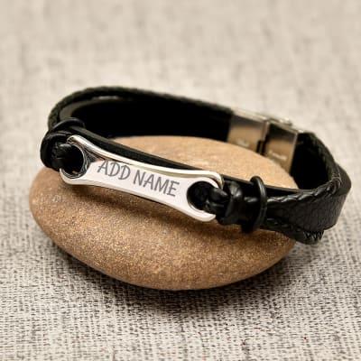 Multi Strand Personalized Bracelet For Men