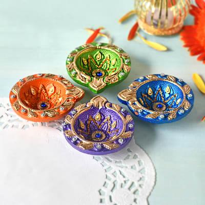 Multicolored Clay DIya Set