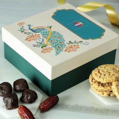 Multigrain Cookies with Chocolate Dip Khajoor Laddoo - Customized with Logo