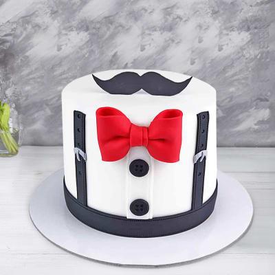 Marvelous Order Mustache Fondant Cake 2 5 Kg Online At Best Price Free Funny Birthday Cards Online Necthendildamsfinfo