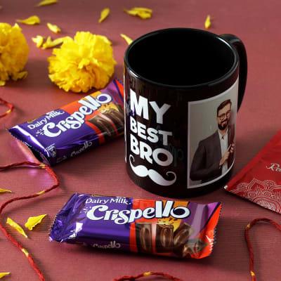 My Best Bro Personalized Mug with Chocolates Hamper