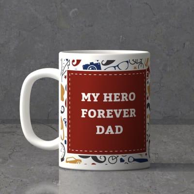 My Dad Is My Hero Personalized Mug