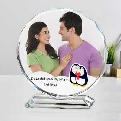 My Penguin Personalized Crystal Photo Stand