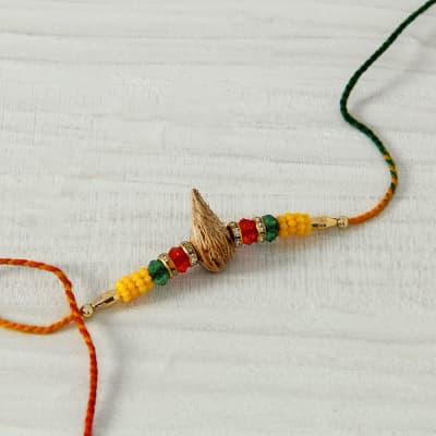 Nariyal Designed Beaded Rakhi