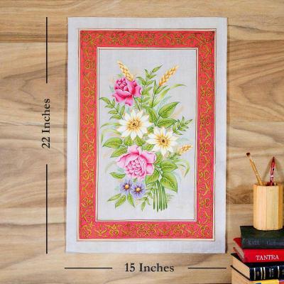 Nature Bounty Flower Silk Painting