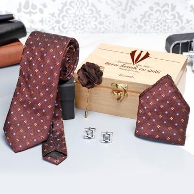 Necktie Set in Personalized Gift Box