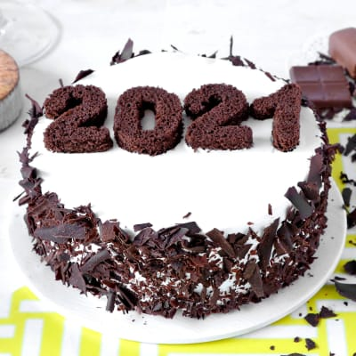New Year 2021 Black Forest Cake (Half Kg)