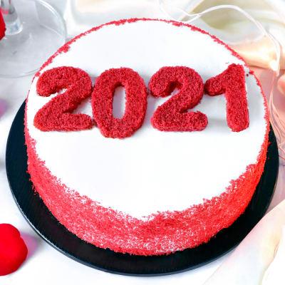 New Year 2021 Red Velvet Cake (Half Kg)