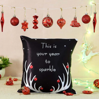 New Year Cushion with Decoratives