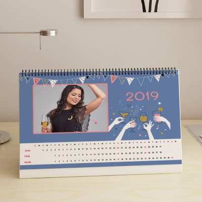 new year party personalized desk calendar a4 gift send home and