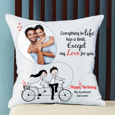 Birthday gifts for girlfriend best birthday gift ideas for no limit for love personalized birthday cushion negle Choice Image