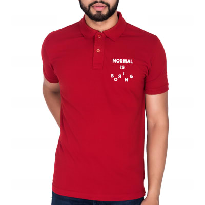 Normal Is Boring Red T-Shirt for Men