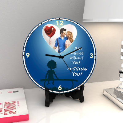 Nothing Without You Personalized Miss Clock