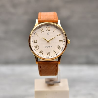 Odyn Leather Strap Men Watch