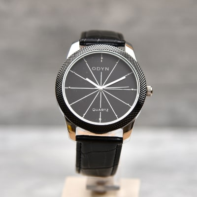 Odyn Round Black Dial Men Watch