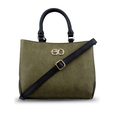 Olive Green Satchel Handbag