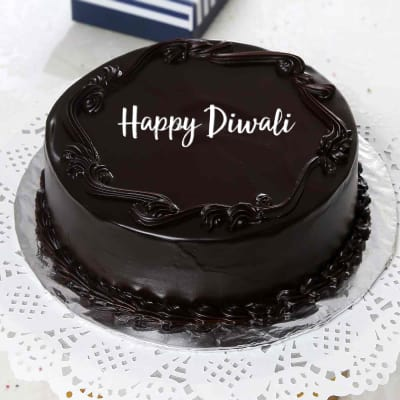 Astounding Half Kg Round Shape Dark Chocolate Cake Gift Send Diwali Gifts Funny Birthday Cards Online Necthendildamsfinfo