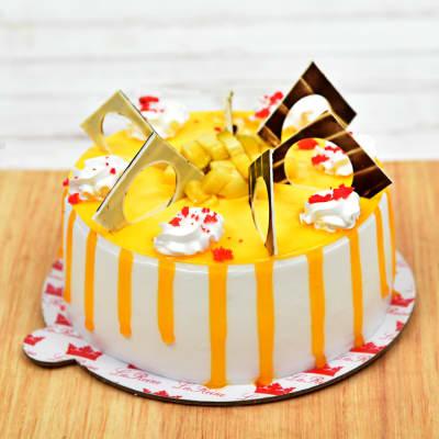One Kg Tempting Mango Cake (Eggless)